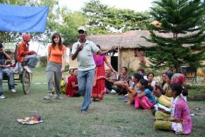 NEPAL - Chitwan, Sapana Village Lodge, Ivonka - narozeninova party