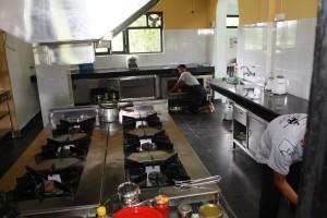 Kitchen Hotel Sapana Village Lodge Pokhary Chitwan Nepal