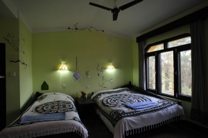 Hotelroom B&B Sapana Lodge Chitwan Nepal