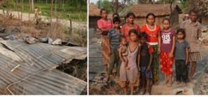 Fire Victims Chitwan Nepal