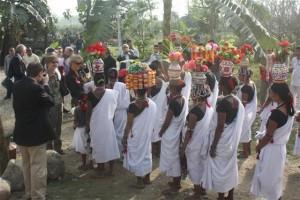 NEPAL - Chitwan National Park, Tharu people welcome tika
