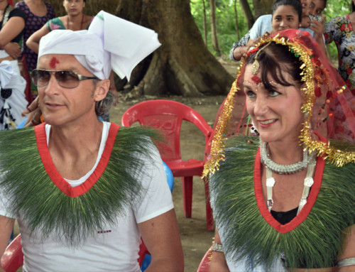 Foreigners wedding in Tharu Culture