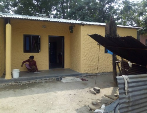 Houses build by Sapana for flood victims