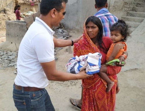 Relief material distributed to the Hurricane victims of Bara District