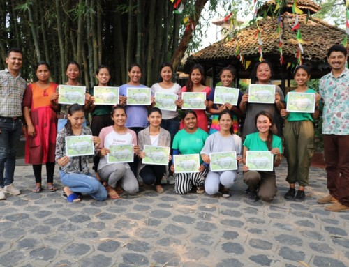 Lady wildlife guide training is successfully completed